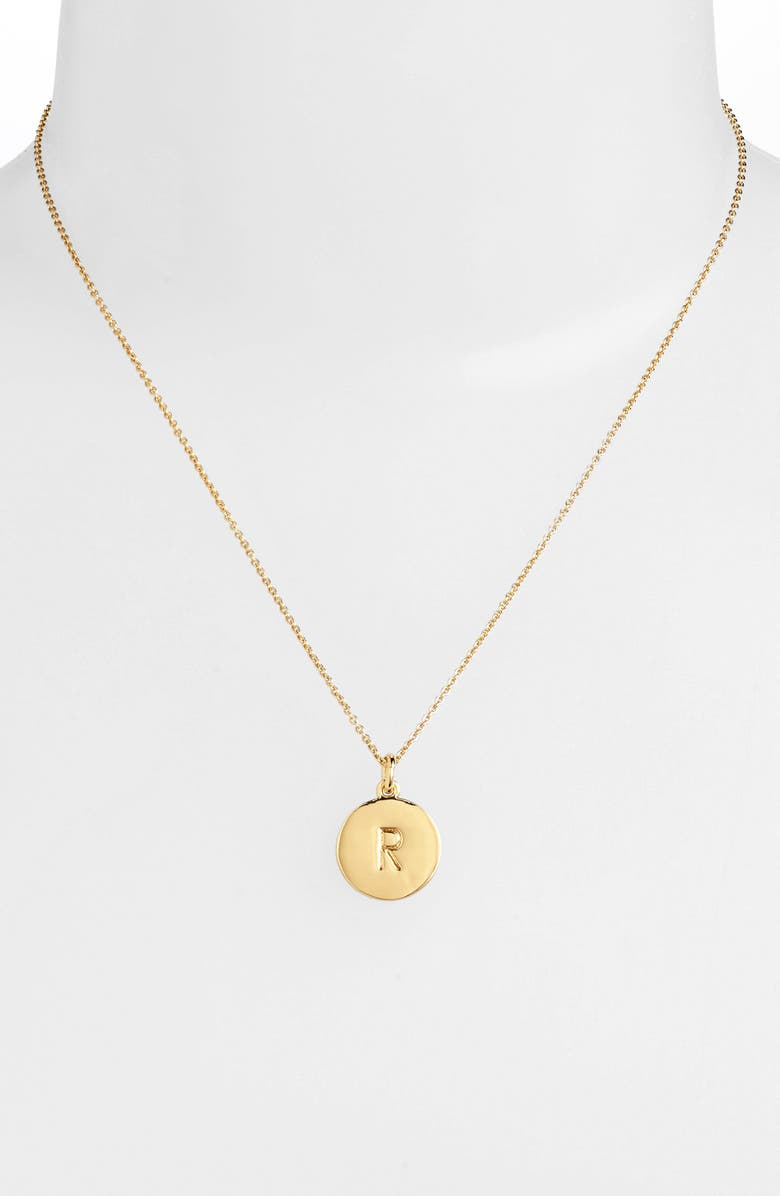KATE SPADE NEW YORK one in a million initial pendant necklace, Main, color, R- GOLD