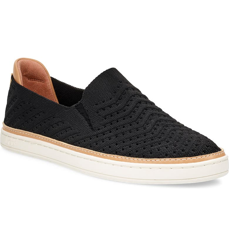 UGG<SUP>®</SUP> Sammy Slip-On Sneaker, Main, color, BLACK FABRIC