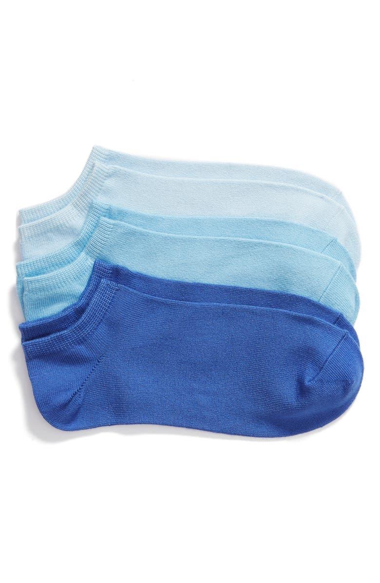 HUE 3-Pack Color Mood Supersoft Liner Socks, Main, color, 459