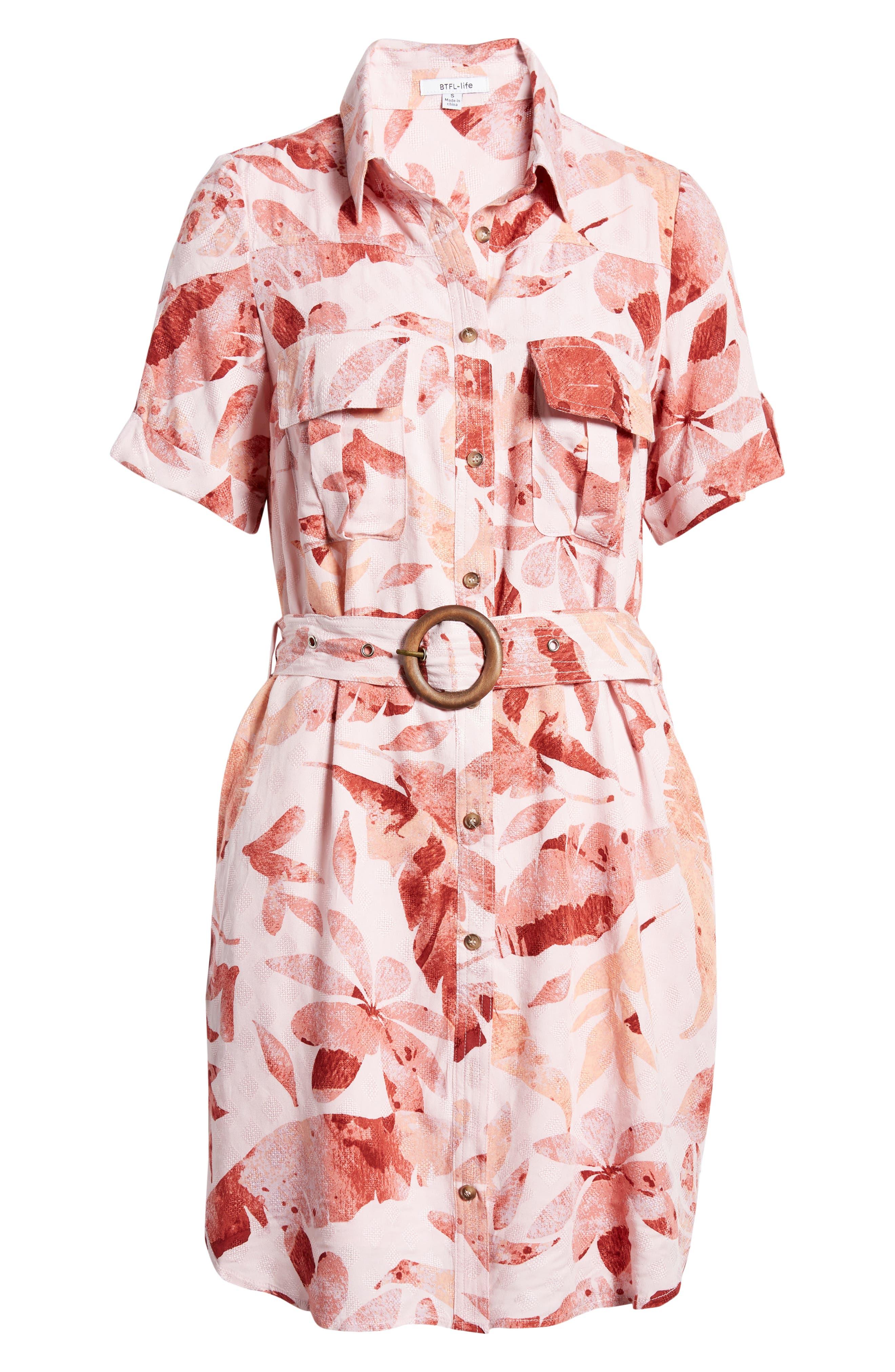 Tropical Mini Shirtdress