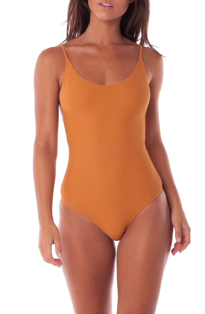8cfc907218 Rhythm Palm Springs Ribbed One-Piece Swimsuit | Nordstrom