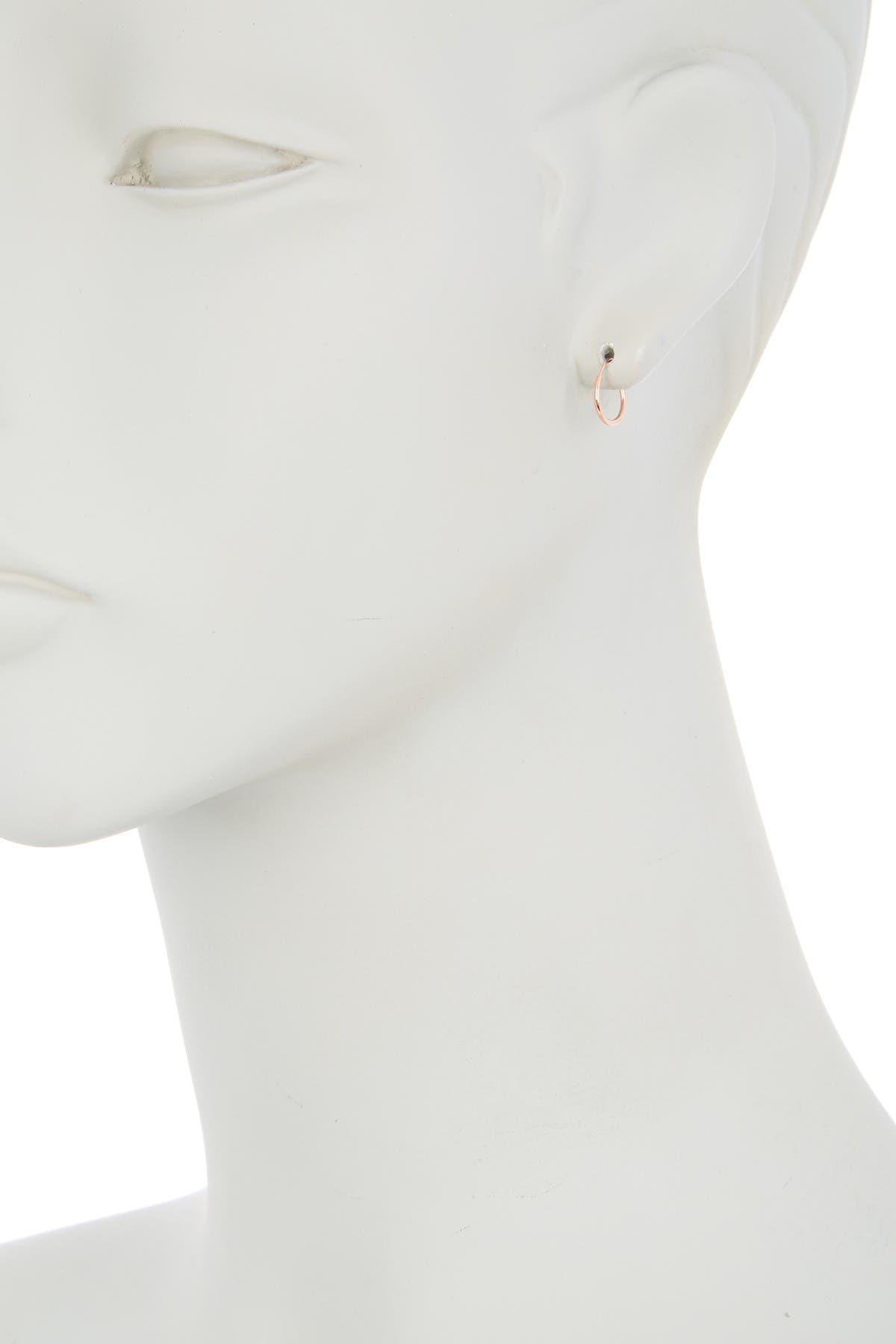Candela 14K Rose Gold 10mm Endless Hoop Earrings
