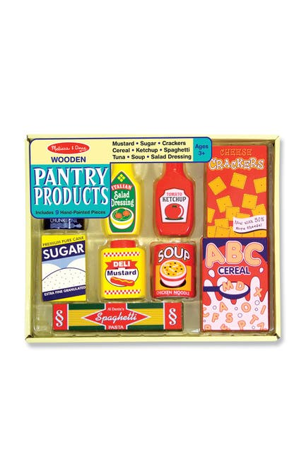 Image of Melissa & Doug Wooden Pantry Products Set