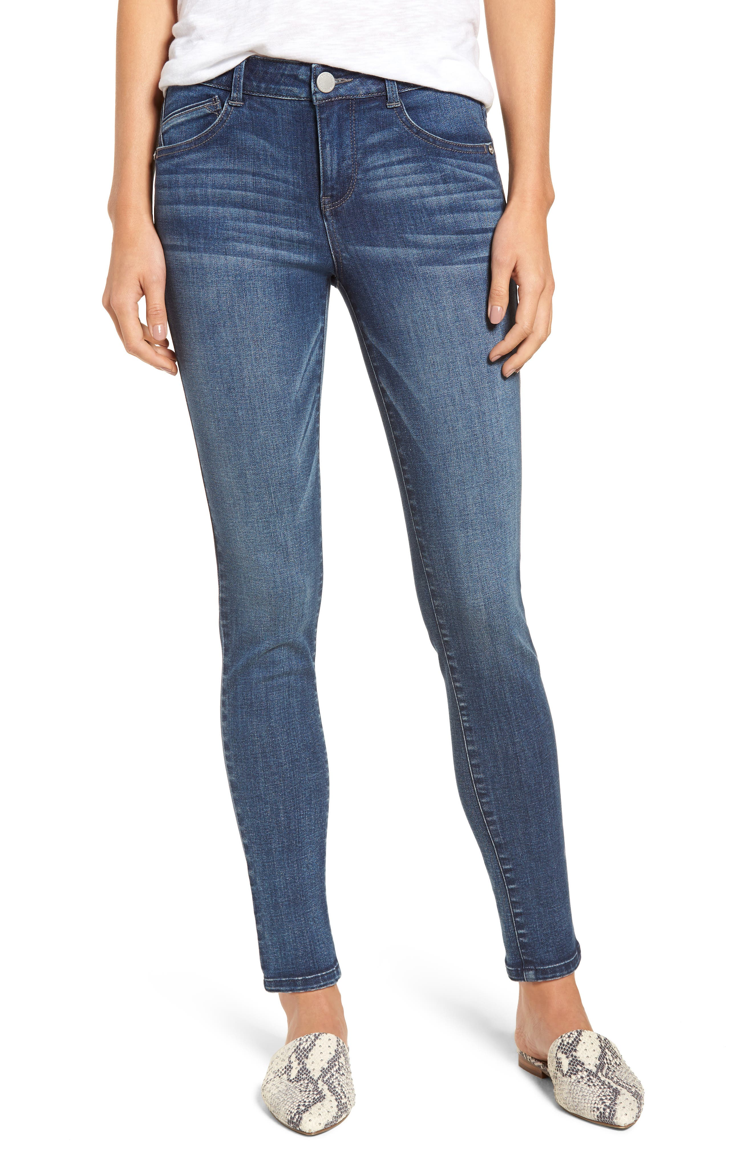 Ab-solution Ankle Skinny Jeans, Main, color, BLUE