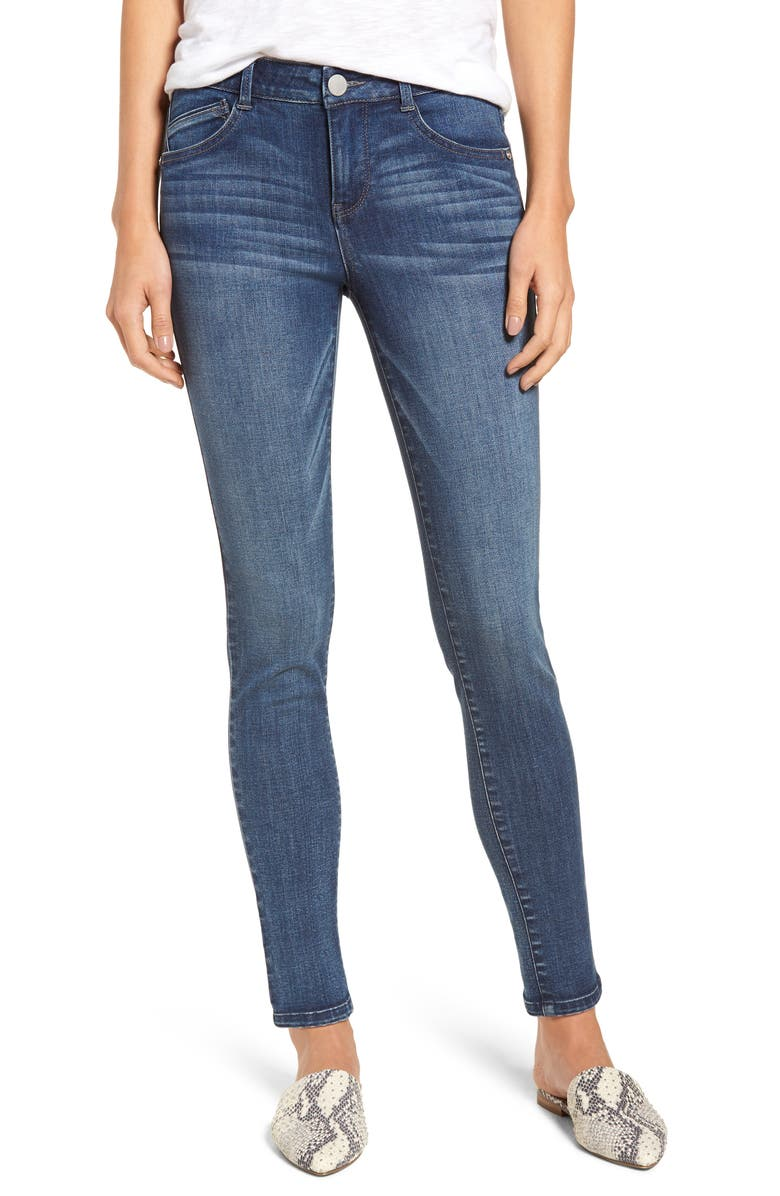 WIT & WISDOM Ab-solution Ankle Skinny Jeans, Main, color, BLUE