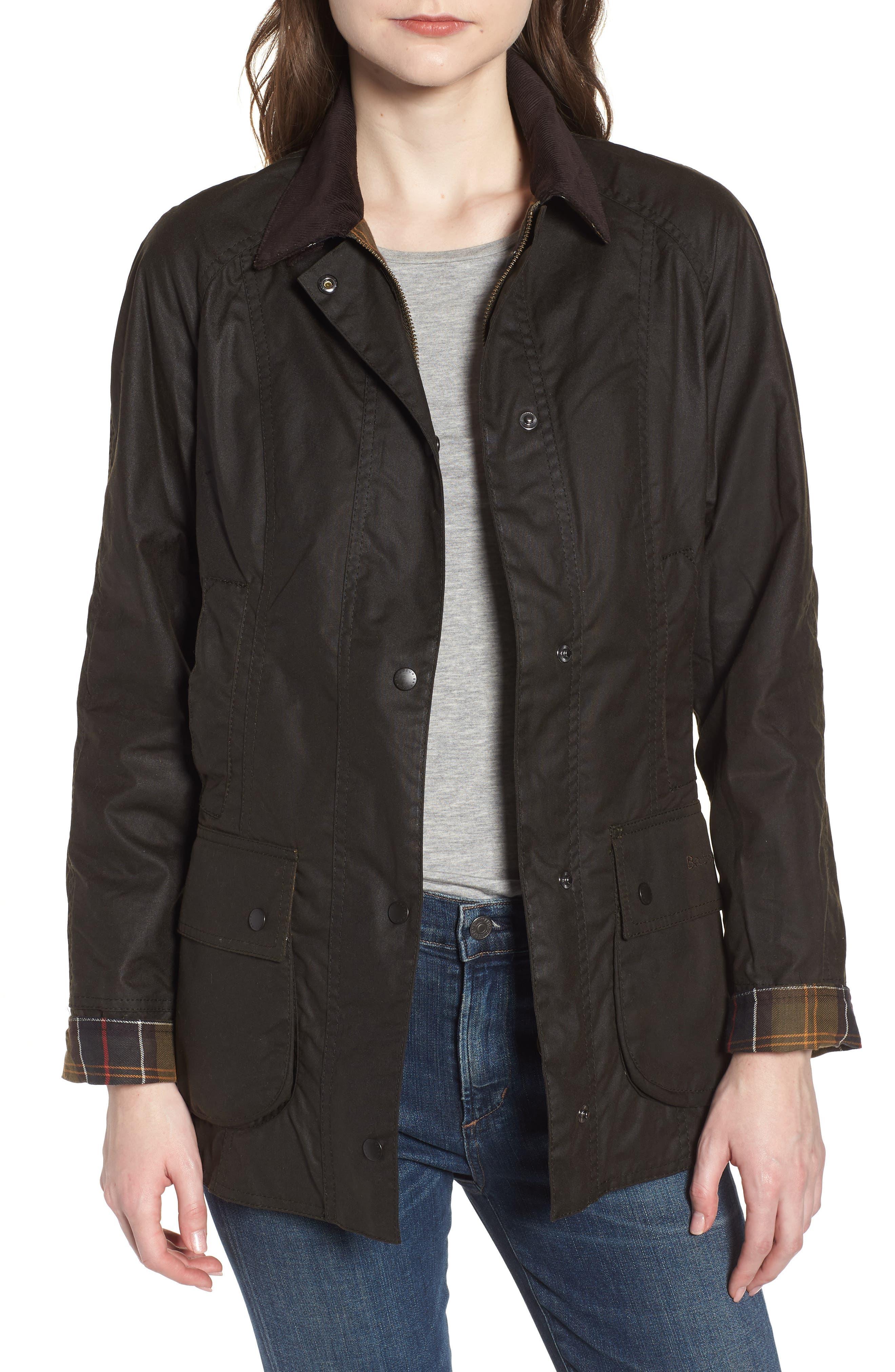 ,                             Beadnell Waxed Cotton Jacket,                             Main thumbnail 1, color,                             300