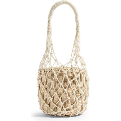 Topshop Siren String Tote Bag - Ivory
