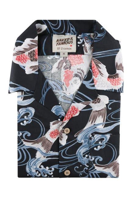 Image of Naked and Famous Aloha Shirt - Koi Fish