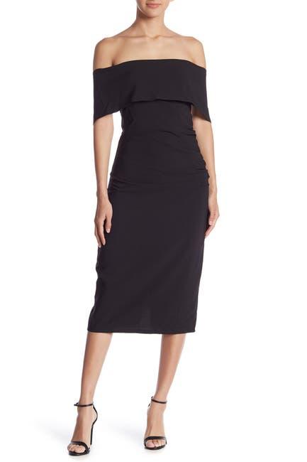 Image of Marina Off-the-Shoulder Midi Dress