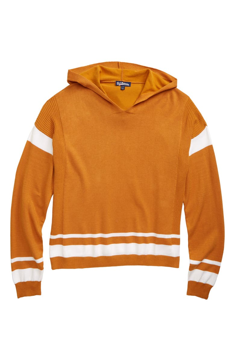 FRESHMAN Hooded Sweater, Main, color, BUTTERSCOTCH CANDY