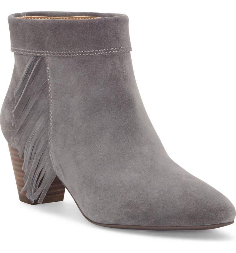 LUCKY BRAND Zakina Bootie, Main, color, STORM SUEDE