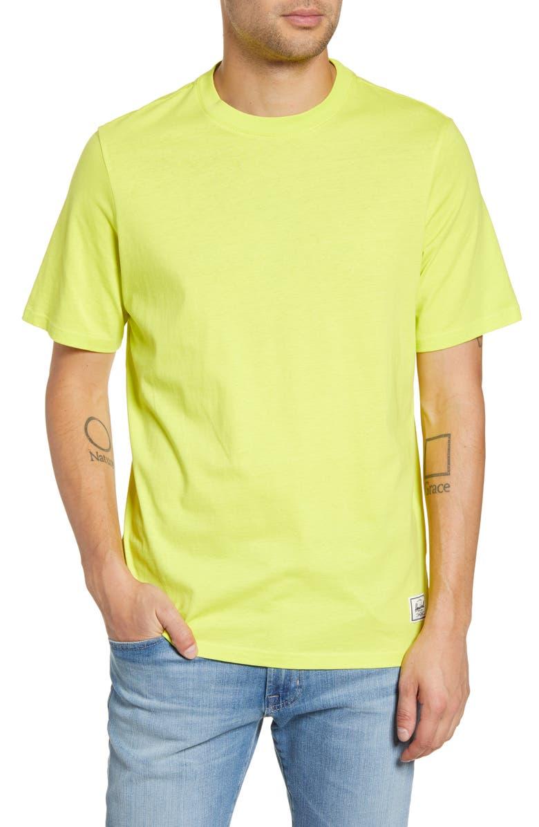 HERSCHEL SUPPLY CO. Crewneck T-Shirt, Main, color, SULPHUR SPRING