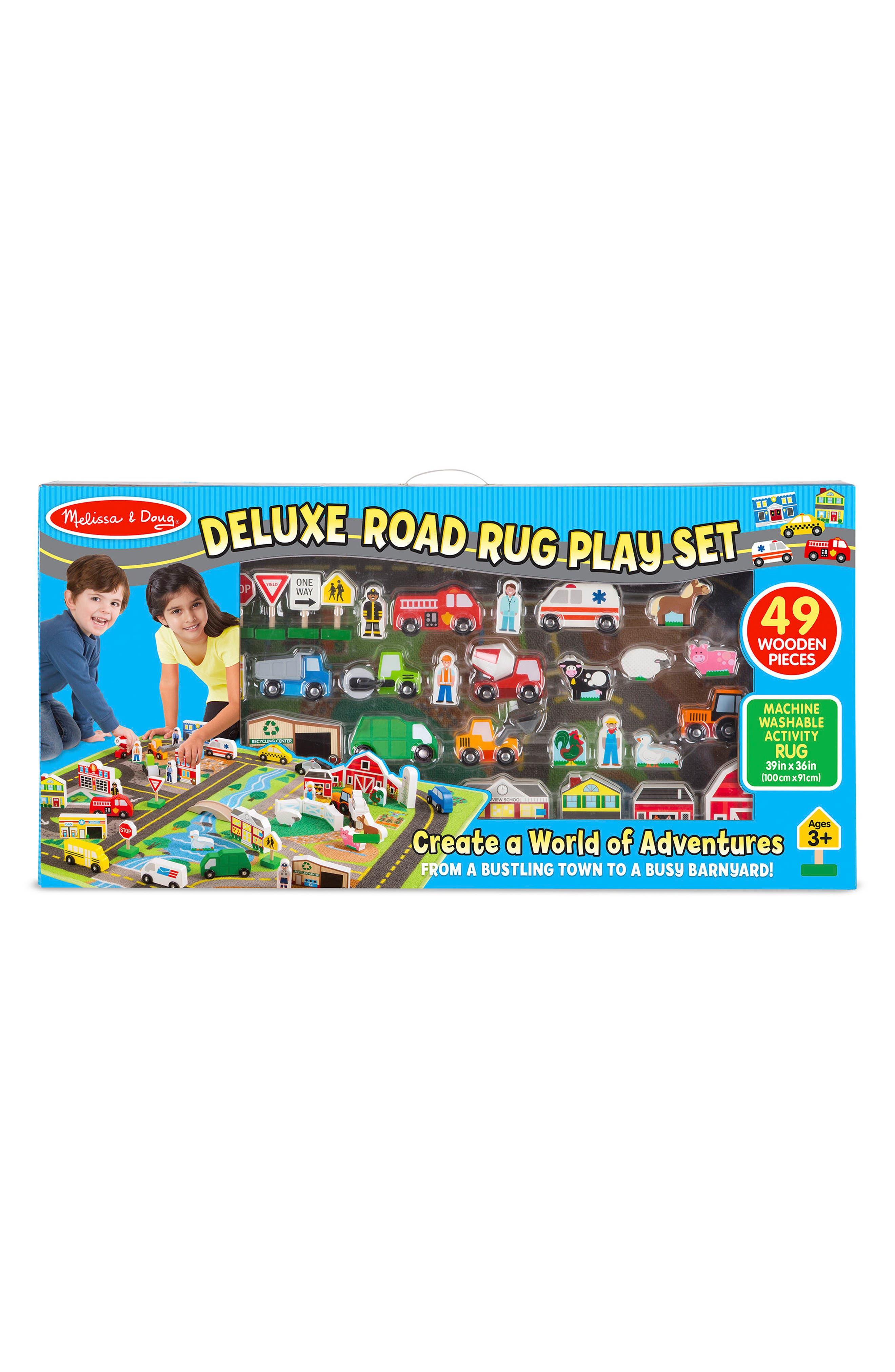 ,                             Road Rug Play Set,                             Main thumbnail 1, color,                             GREEN