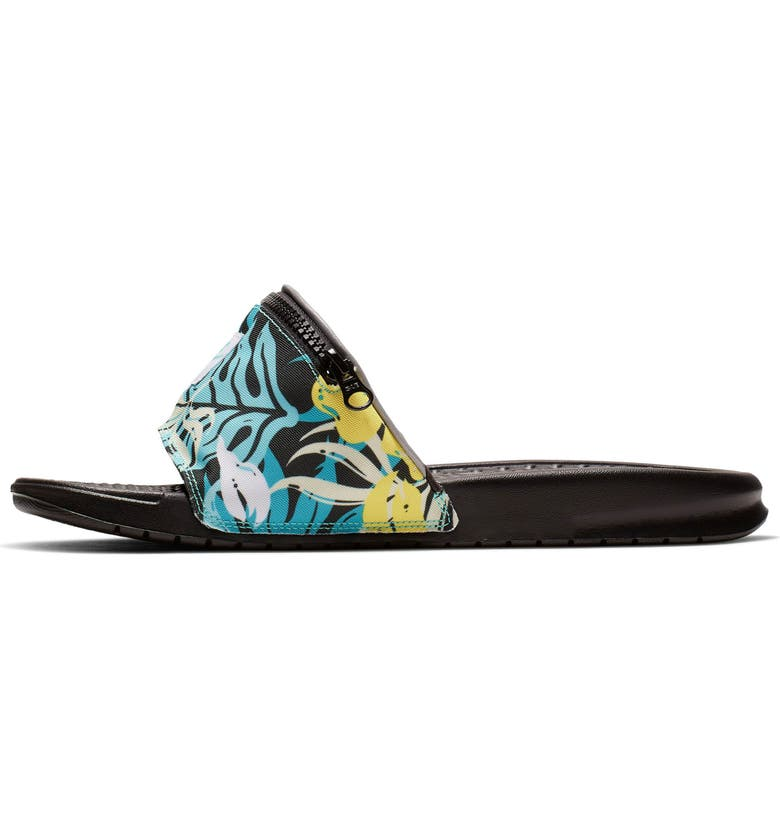NIKE Benassi JDI Fanny Pack Sport Slide, Main, color, HYPER JADE/ SPIRIT TEAL/ BLACK