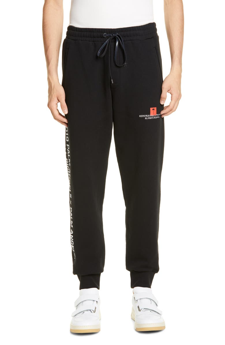 PALM ANGELS Palm Tree Sweatpants, Main, color, BLACK MULTICOLOR