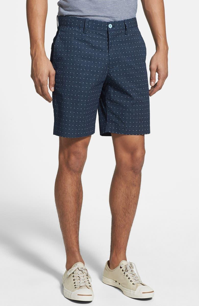 ORIGINAL PENGUIN Print Shorts, Main, color, DRESS BLUE