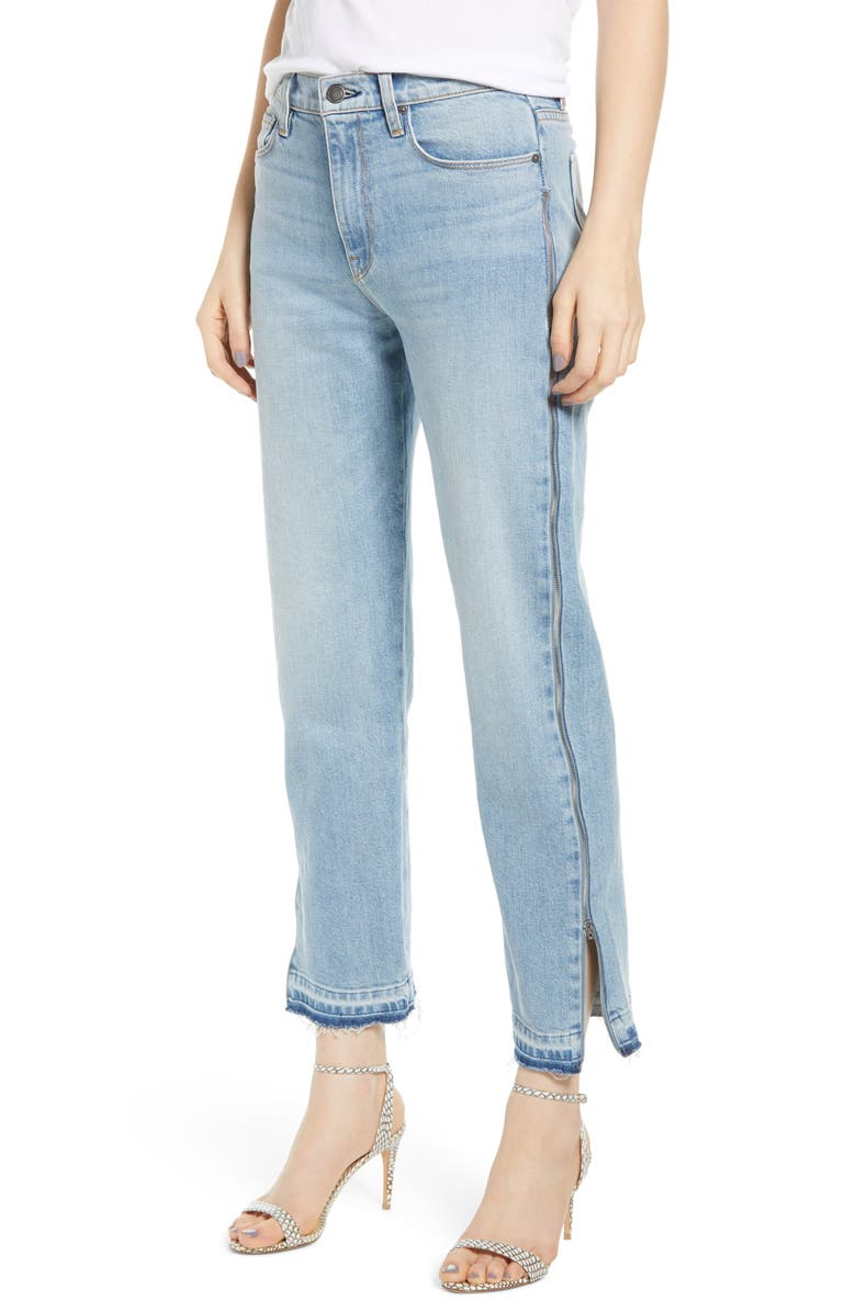 HUDSON JEANS Holly High Waist Side Zip Crop Straight Leg Jeans, Main, color, UNINTERUPTED