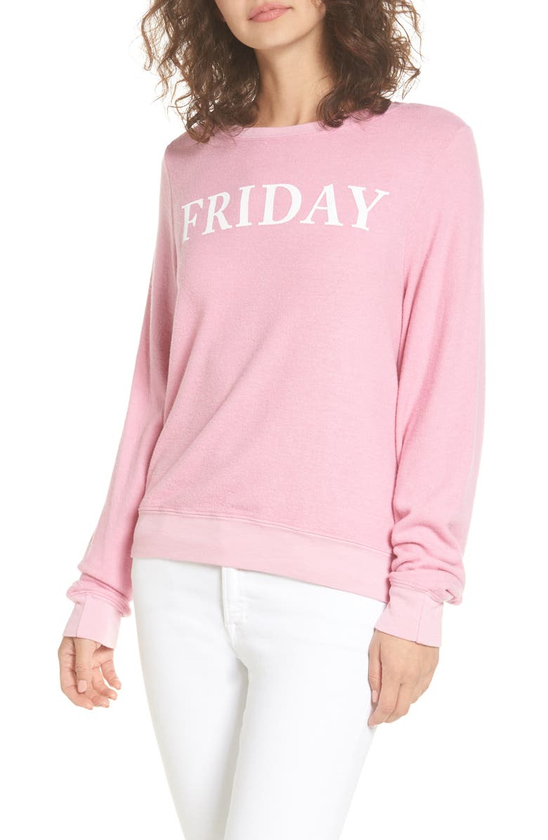 DREAM SCENE Friday Sweatshirt, Main, color, 650