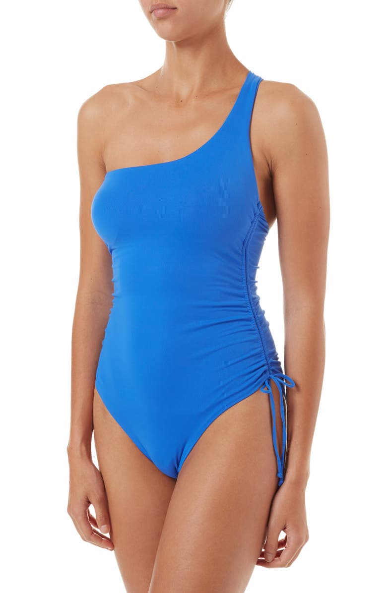 MELISSA ODABASH Polynesia One-Strap One-Piece Swimsuit, Main, color, 400