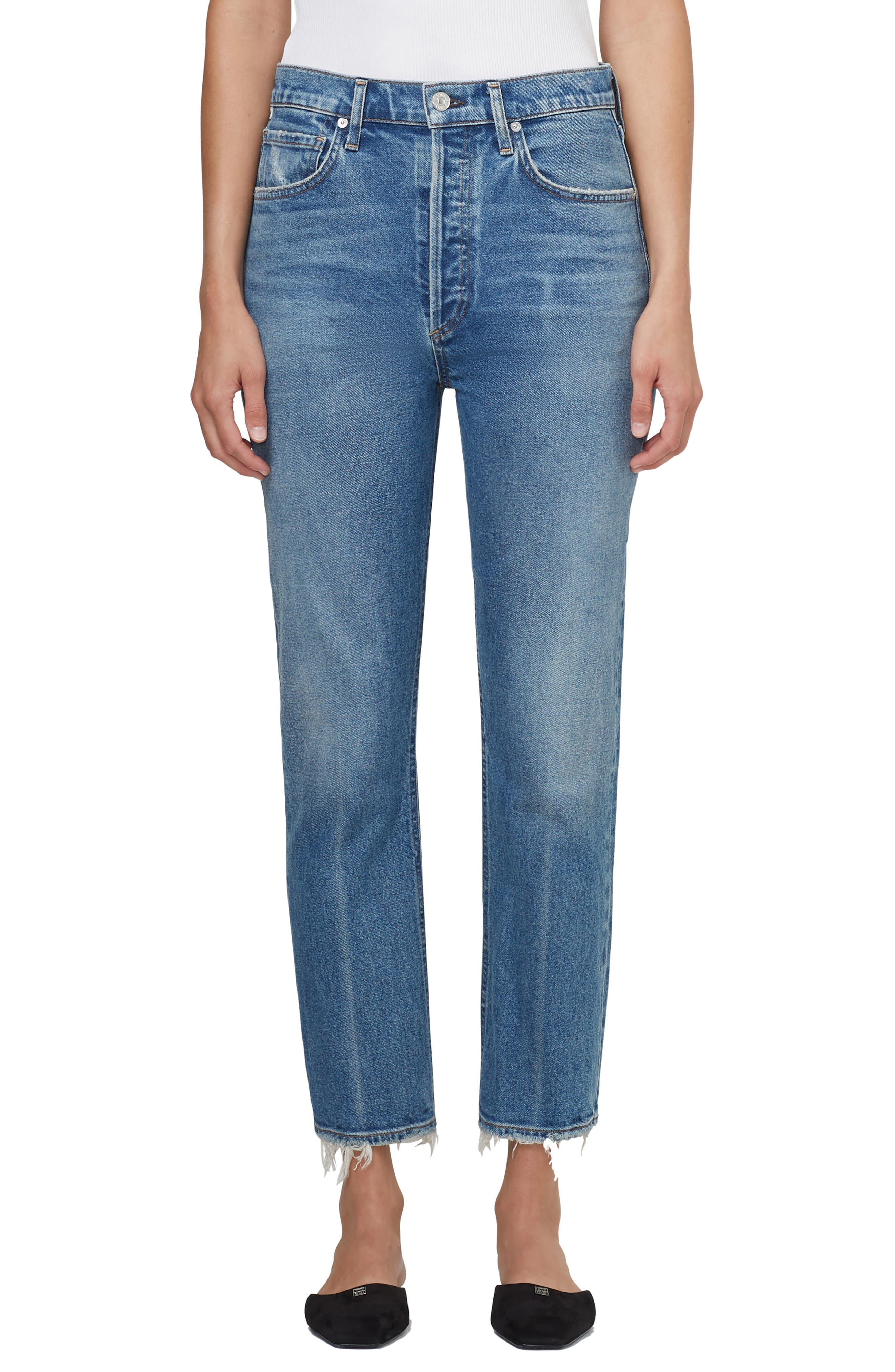 Jolene High Waist Slim Straight Leg Jeans