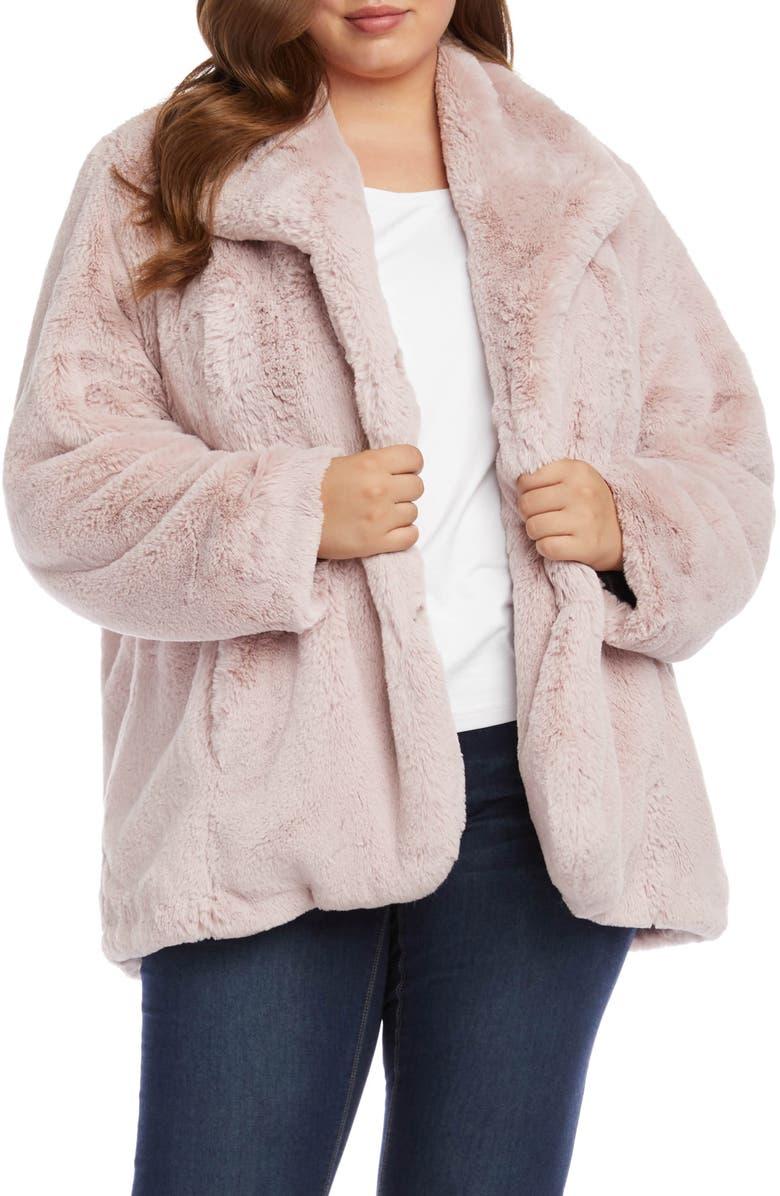 KAREN KANE Faux Fur Jacket, Main, color, PINK