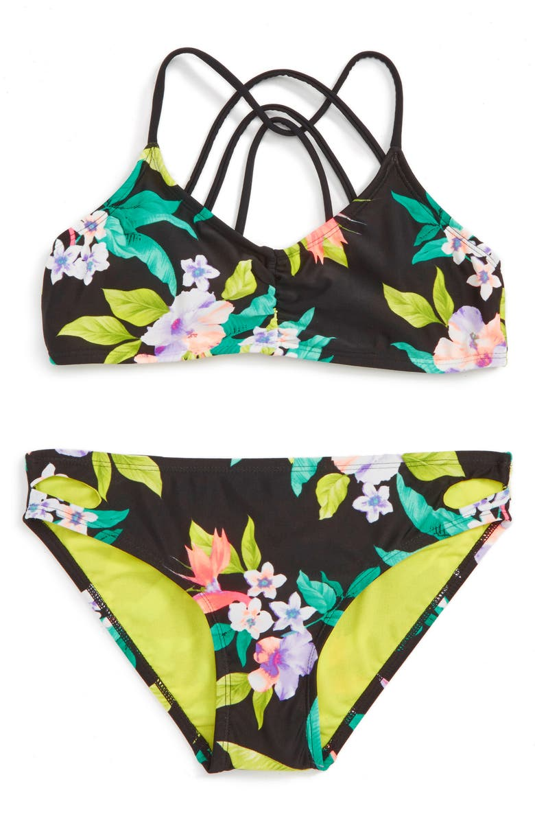 GOSSIP GIRL 'Paradiso' Print Two-Piece Swimsuit, Main, color, 001