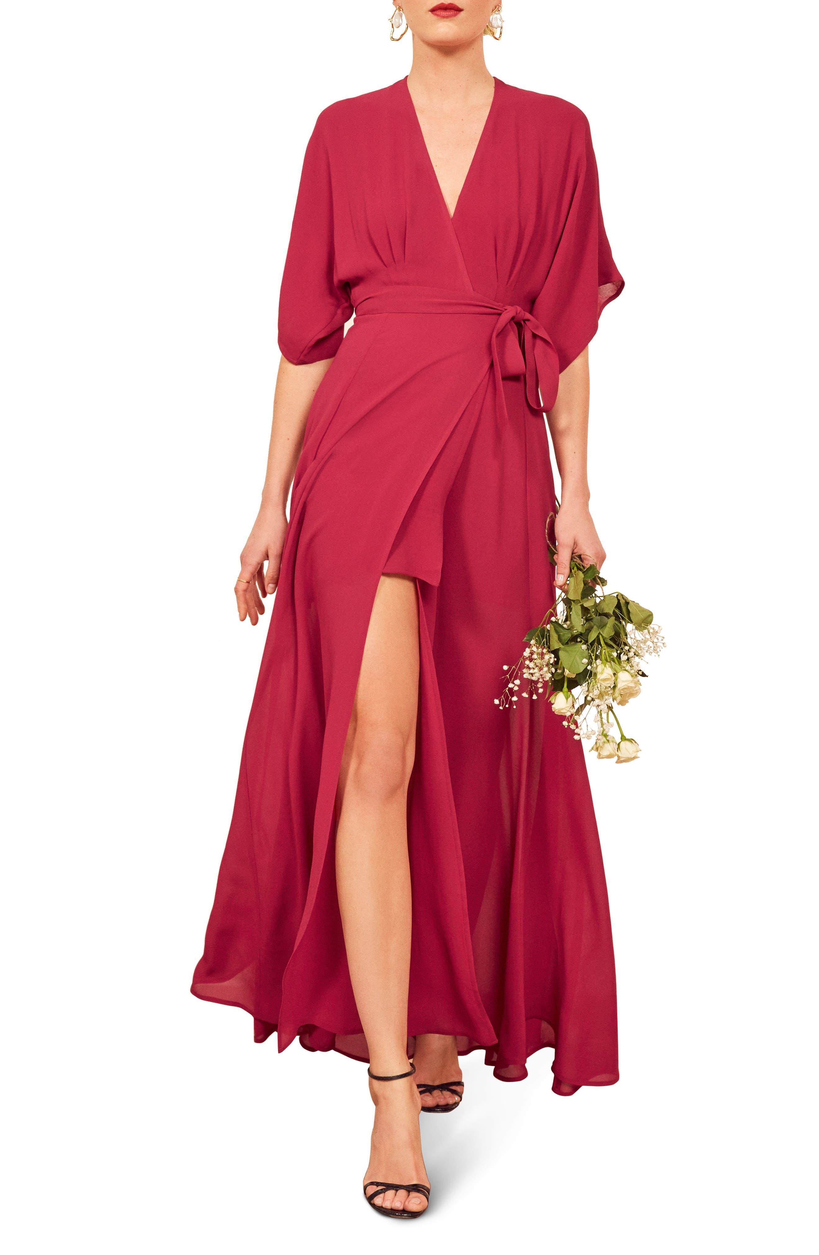 Reformation Winslow Maxi Dress, Pink