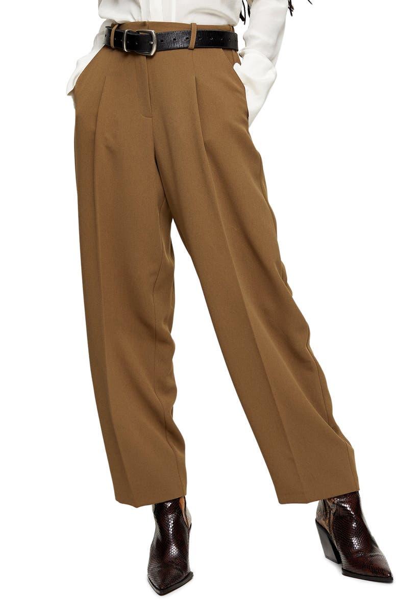 TOPSHOP Lulu Elastic Back Trousers, Main, color, 200