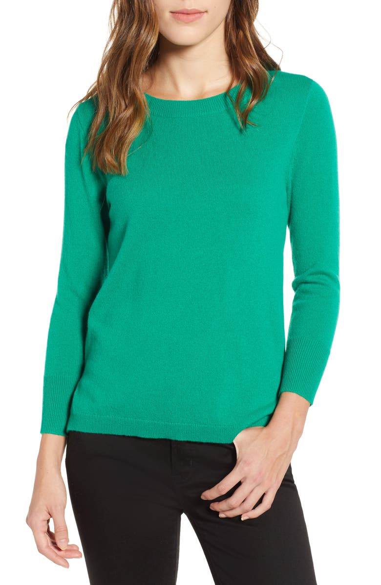 J.CREW Crewneck Cashmere Sweater, Main, color, 317