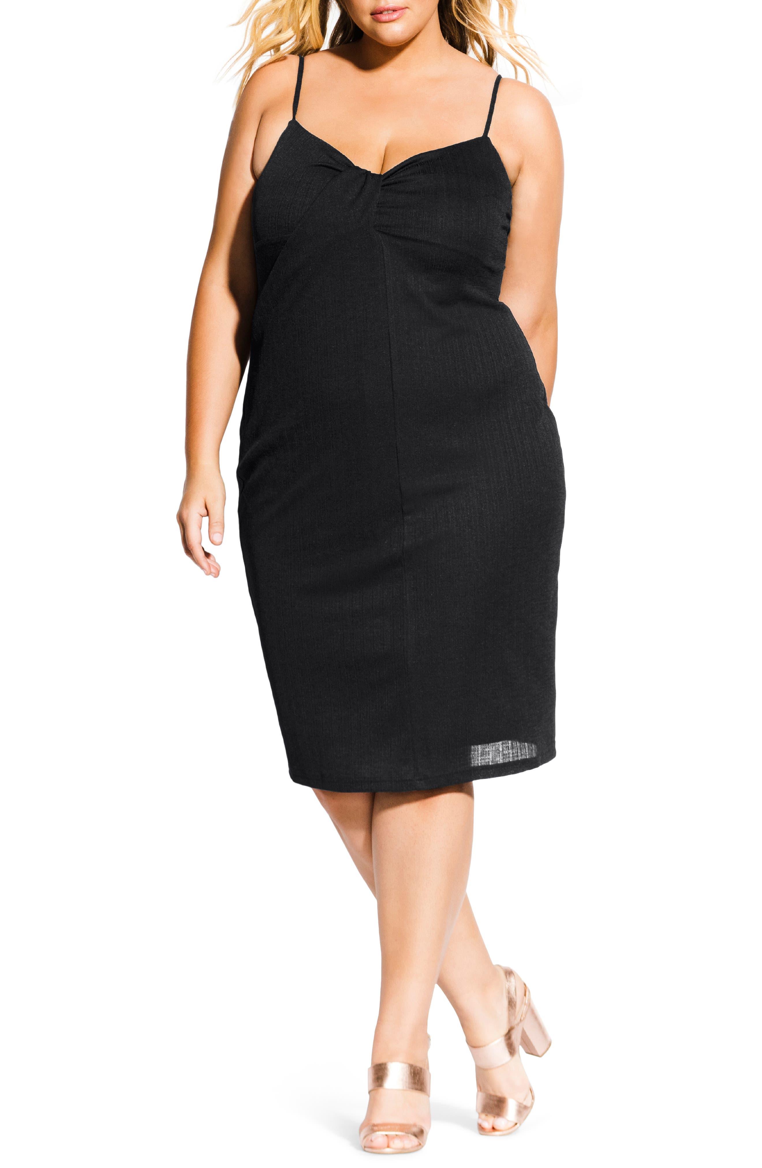 Plus Size City Chic Classic Twist Dress, Black