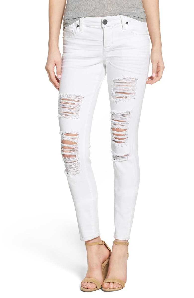 STS BLUE 'Amy' Destroyed Skinny Jeans, Main, color, 100