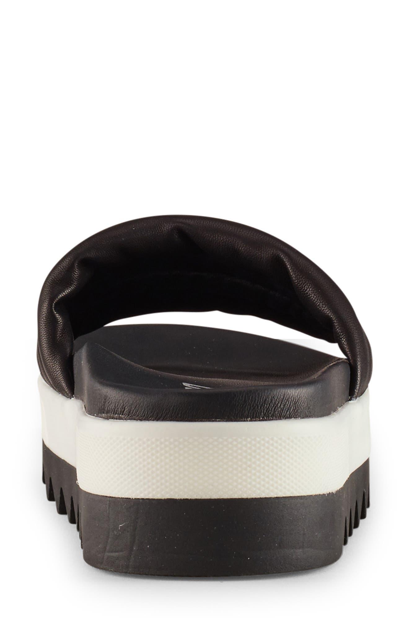 ,                             Prato Slide Sandal,                             Alternate thumbnail 5, color,                             BLACK LEATHER