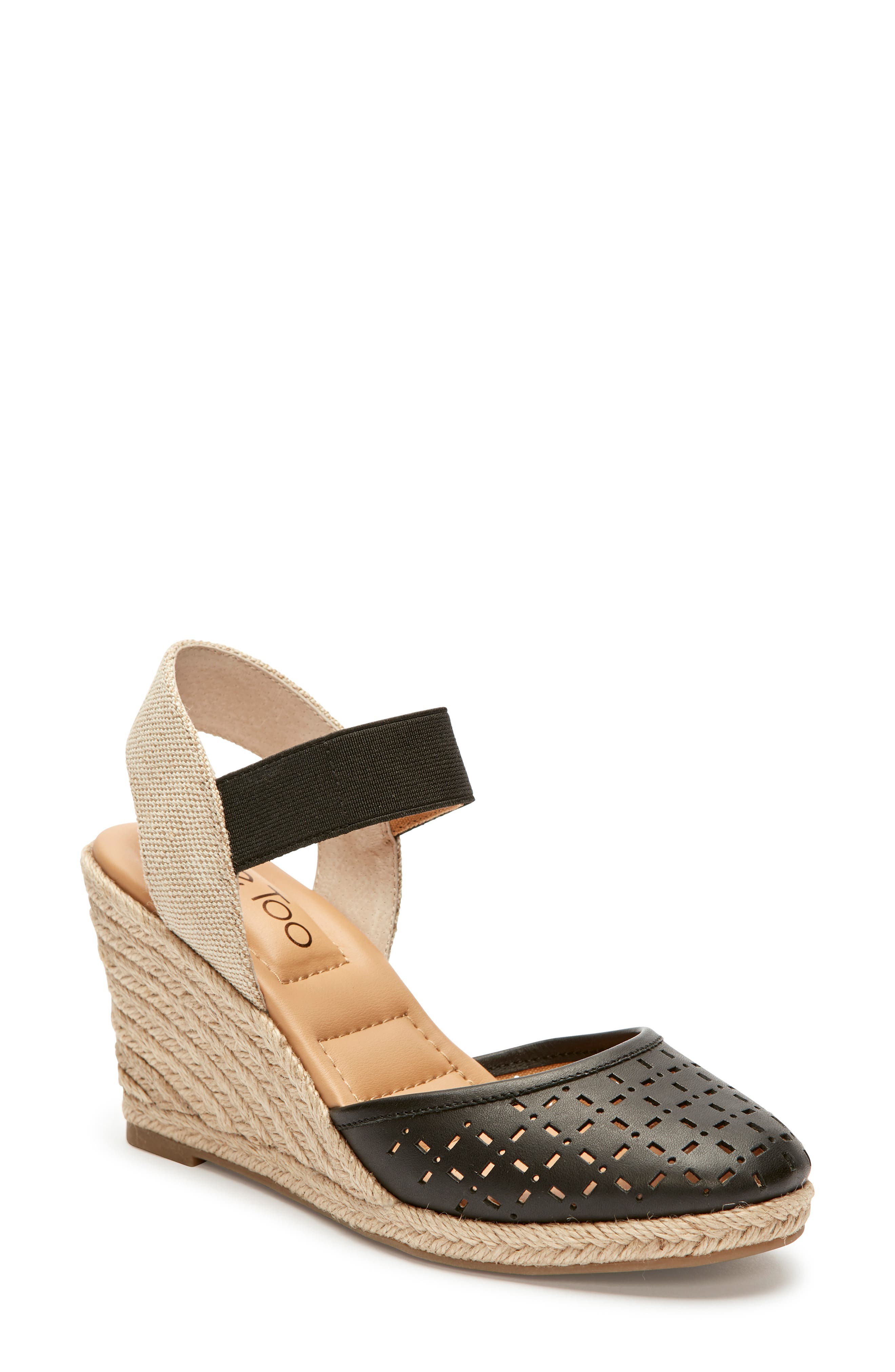Me Too Bess Wedge Sandal- Black