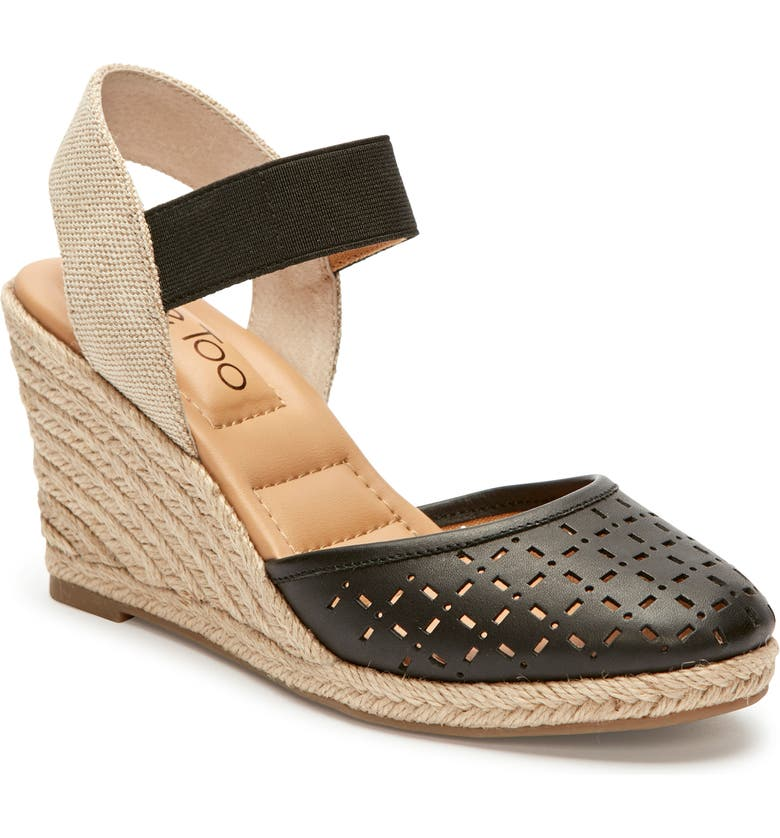 ME TOO Bess Wedge Sandal, Main, color, BLACK LEATHER