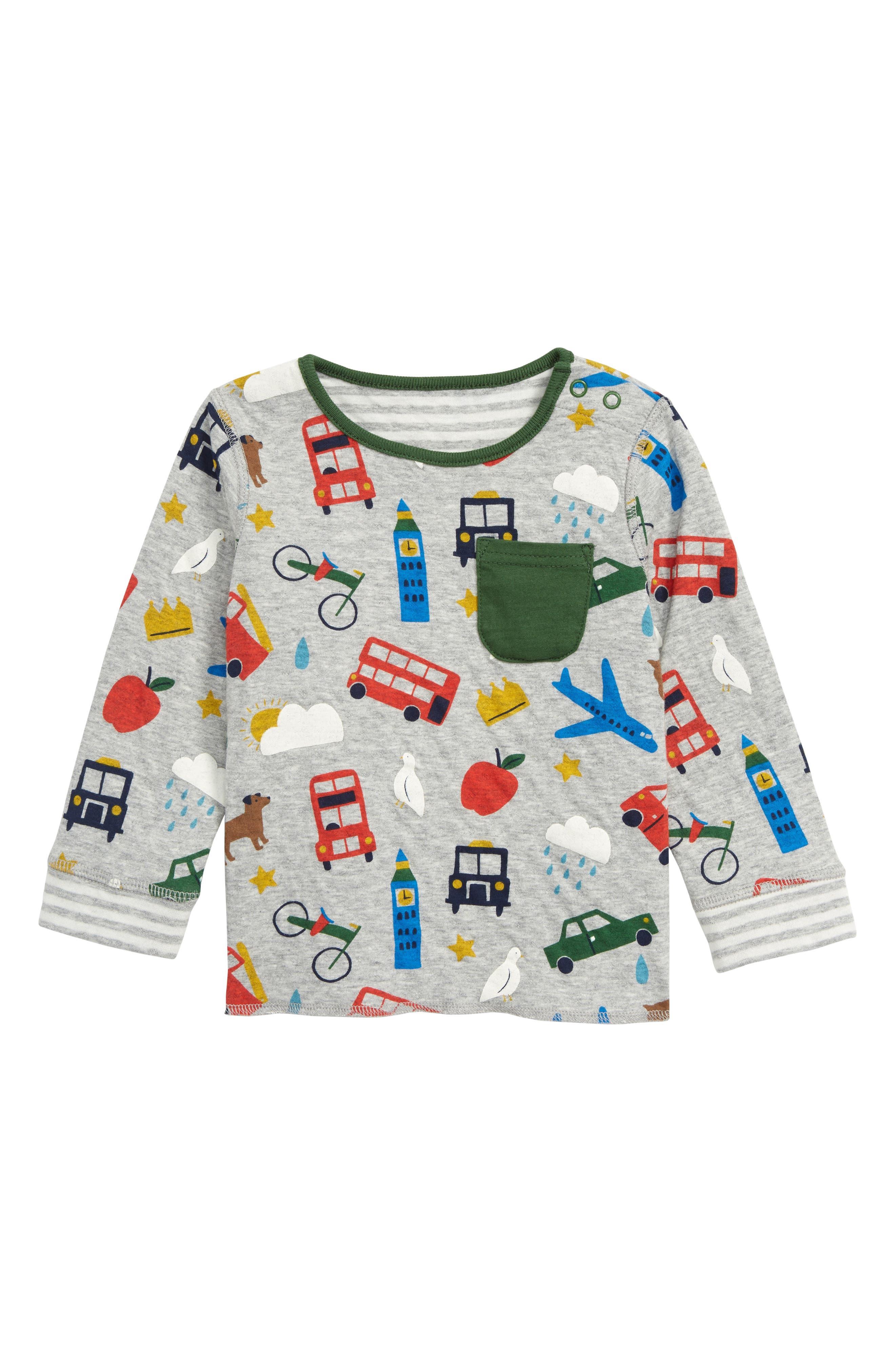 ,                             Run Print Reversible T-Shirt,                             Main thumbnail 1, color,                             GRY GREY MARL LONDON BUSTLE