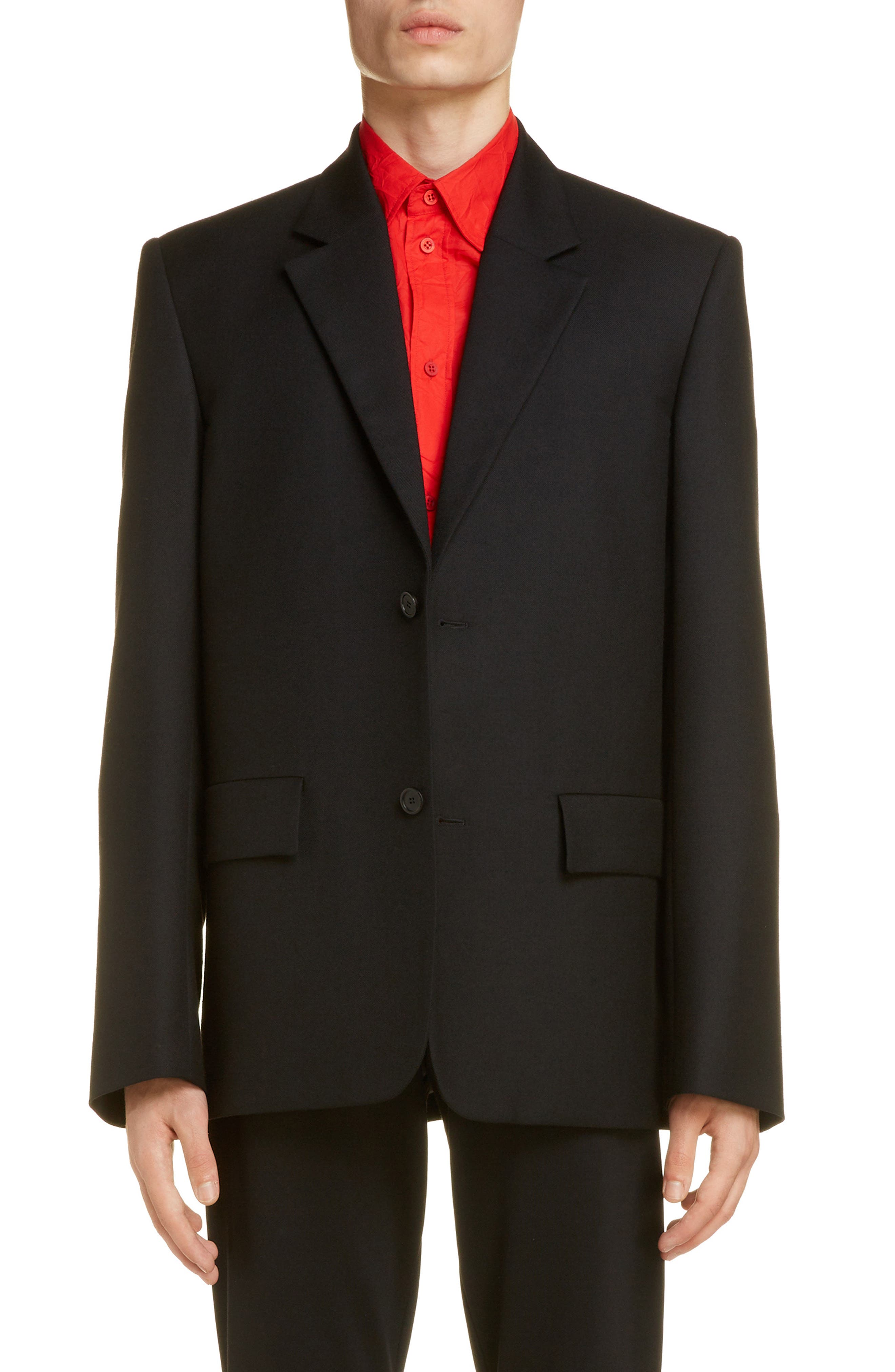Image of Balenciaga Wool Blazer