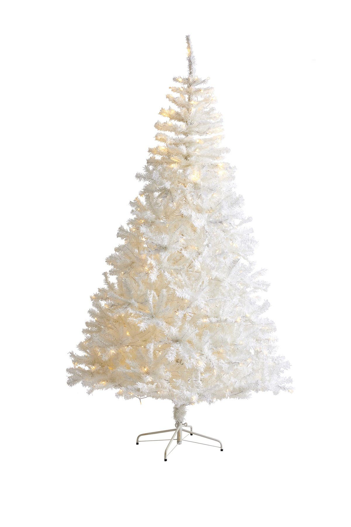 Image of NEARLY NATURAL 8ft. White Artificial Christmas Tree