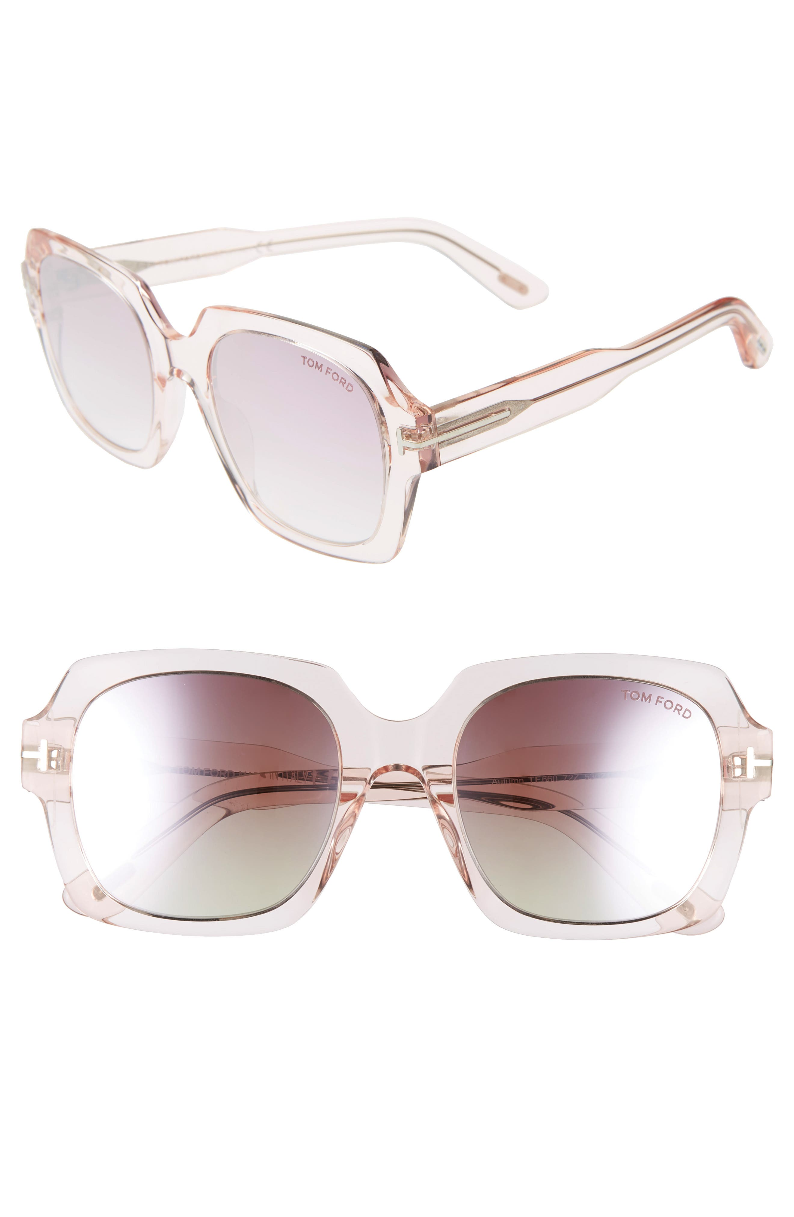 Image of Tom Ford Autumn 53mm Square Sunglasses