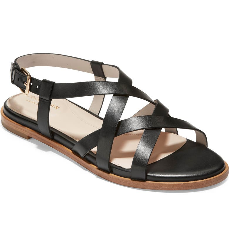 COLE HAAN Analeigh Strappy Sandal, Main, color, BLACK LEATHER