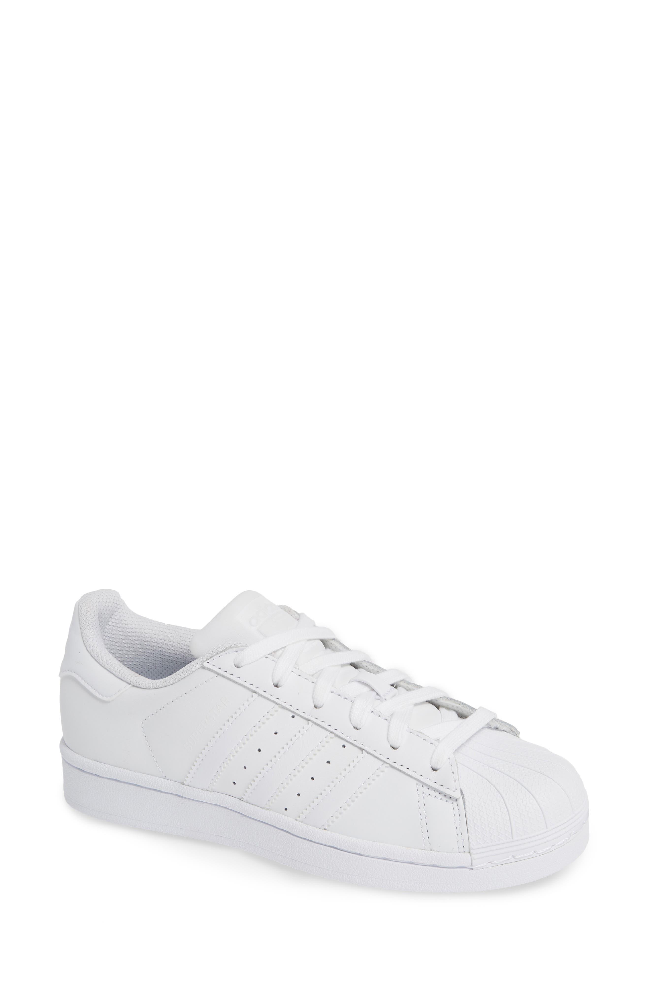 Superstar Sneaker, Main, color, WHITE/ WHITE / WHITE