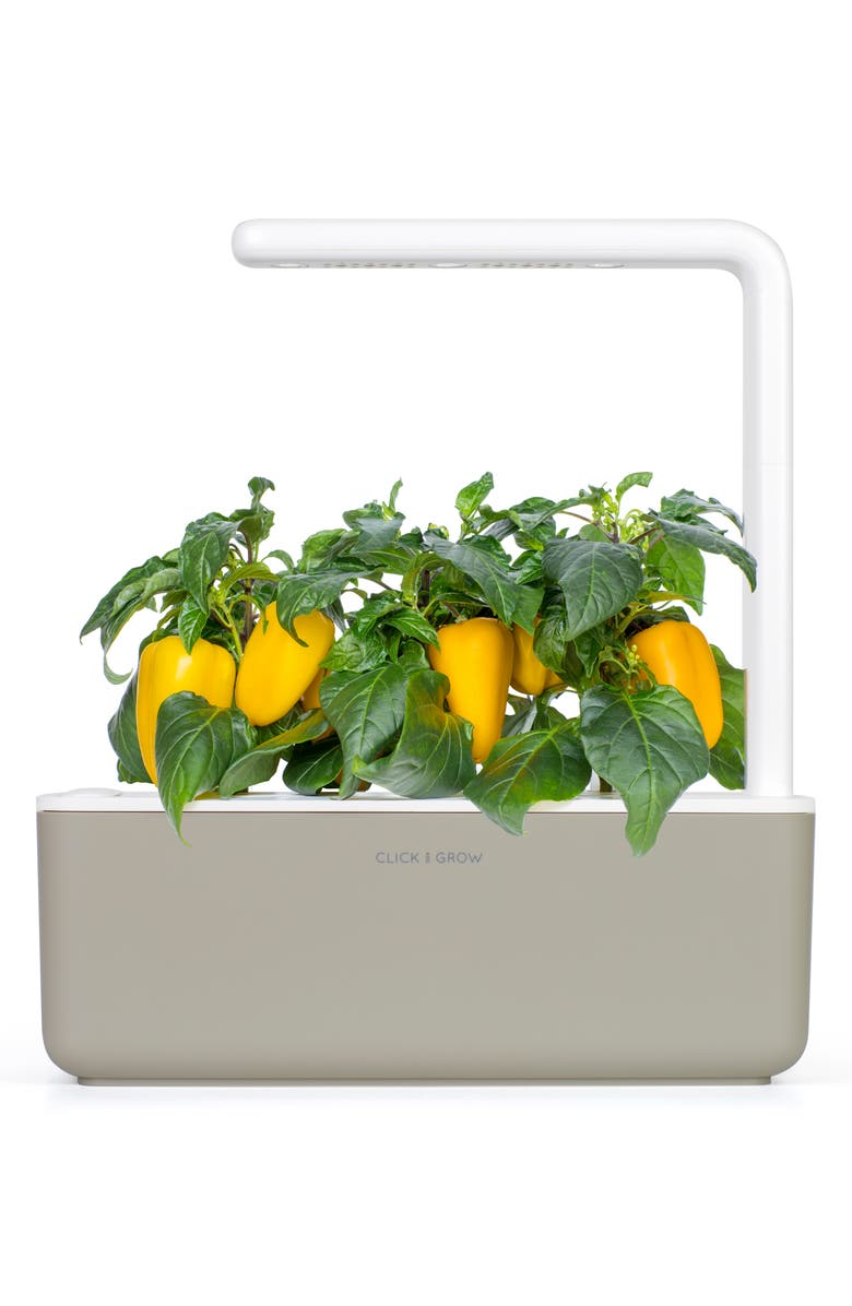 CLICK & GROW Smart Garden 3 Self Watering Indoor Garden, Main, color, BEIGE