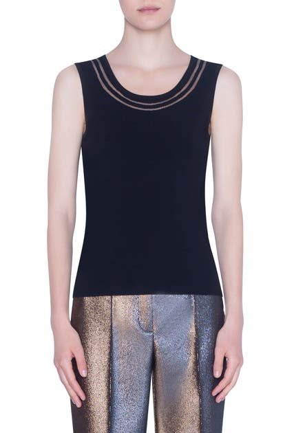 Akris Punto Tops TRANSPARENT TULLE SWEATER TANK