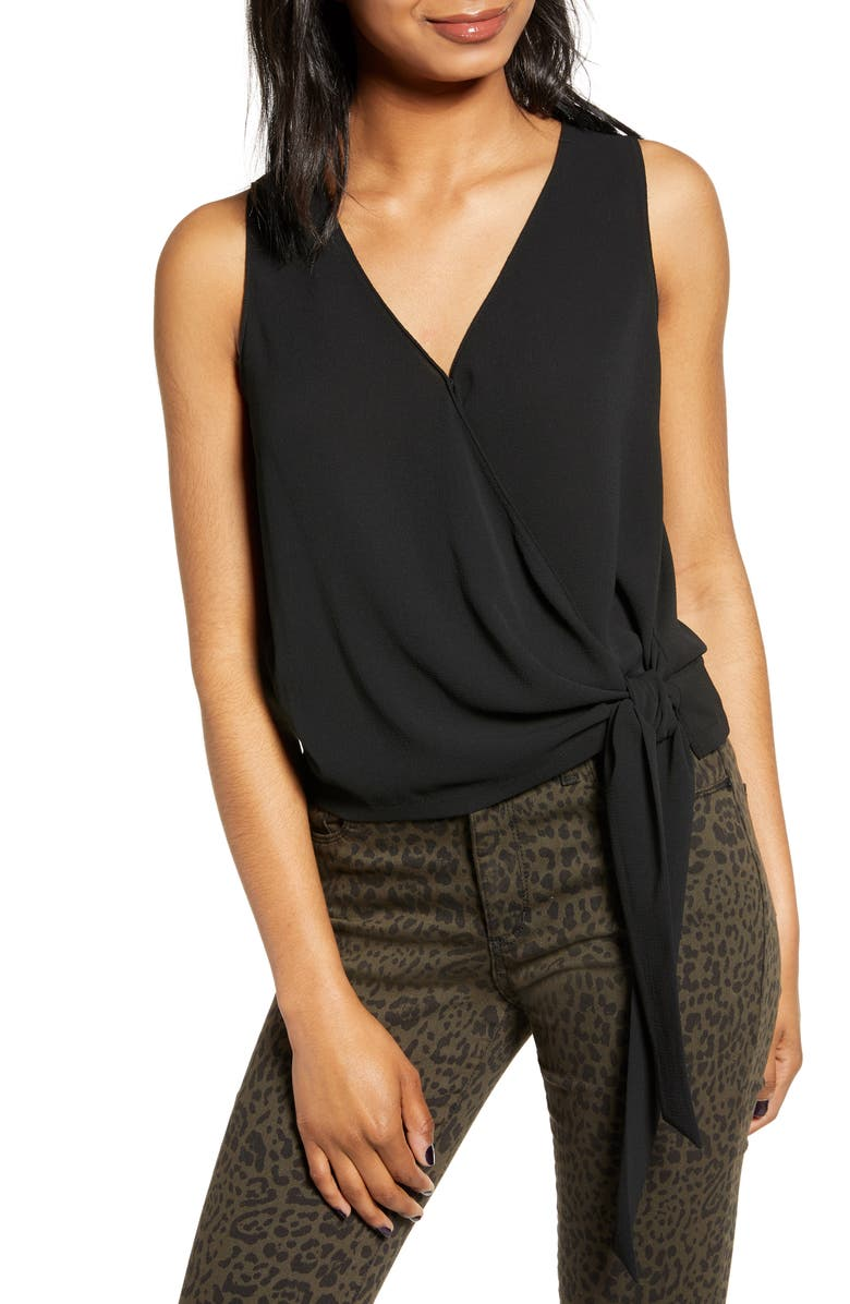 ALL IN FAVOR Side Tie Tank, Main, color, 001