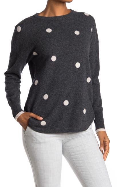 Image of Catherine Catherine Malandrino Polka Dot Cashmere Pullover Sweater