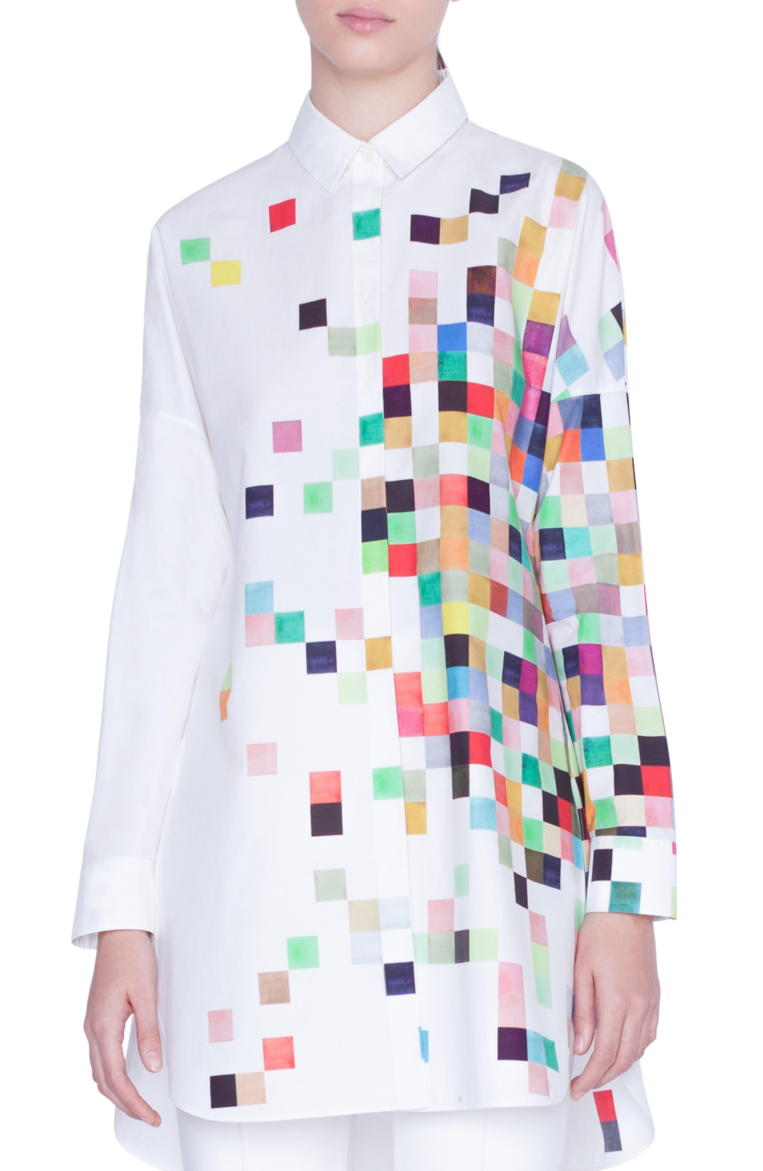 Akris Punto T-shirts Pixel Print Tunic Shirt