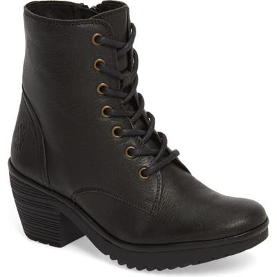 Fly London Woke Lace-Up Bootie - Black