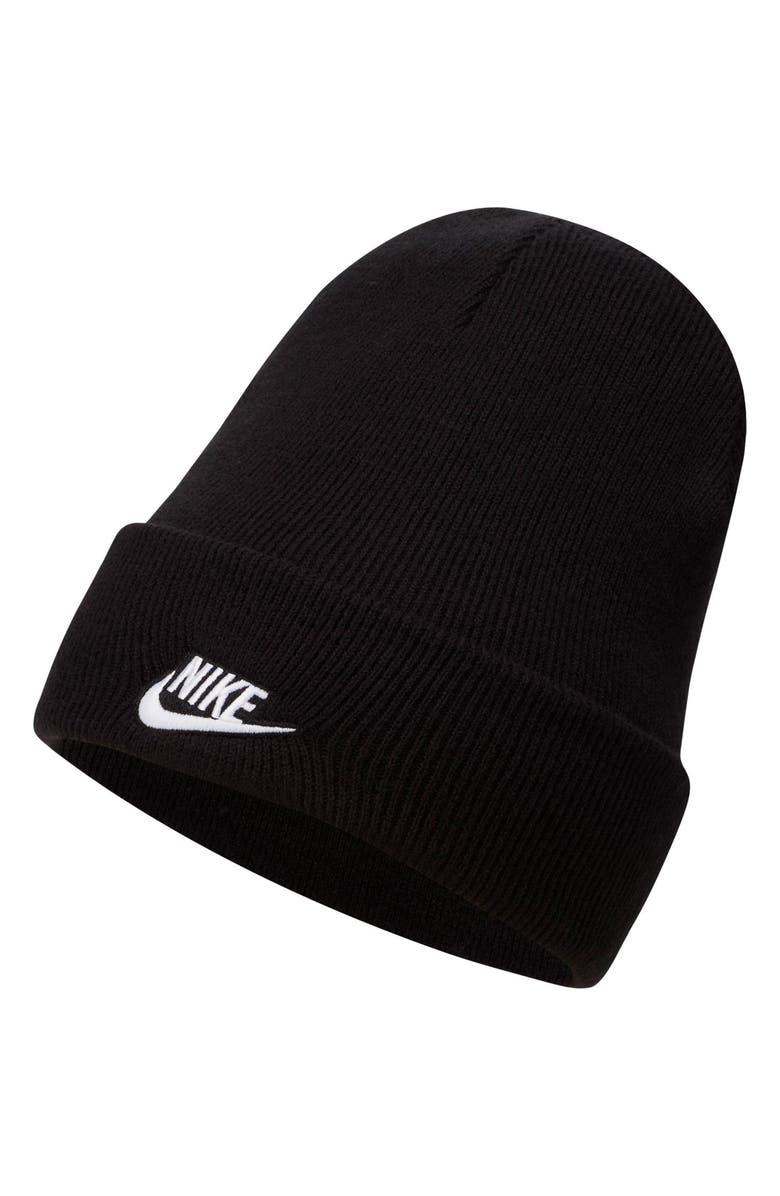 NIKE Sportswear Cuffed Beanie, Main, color, BLACK