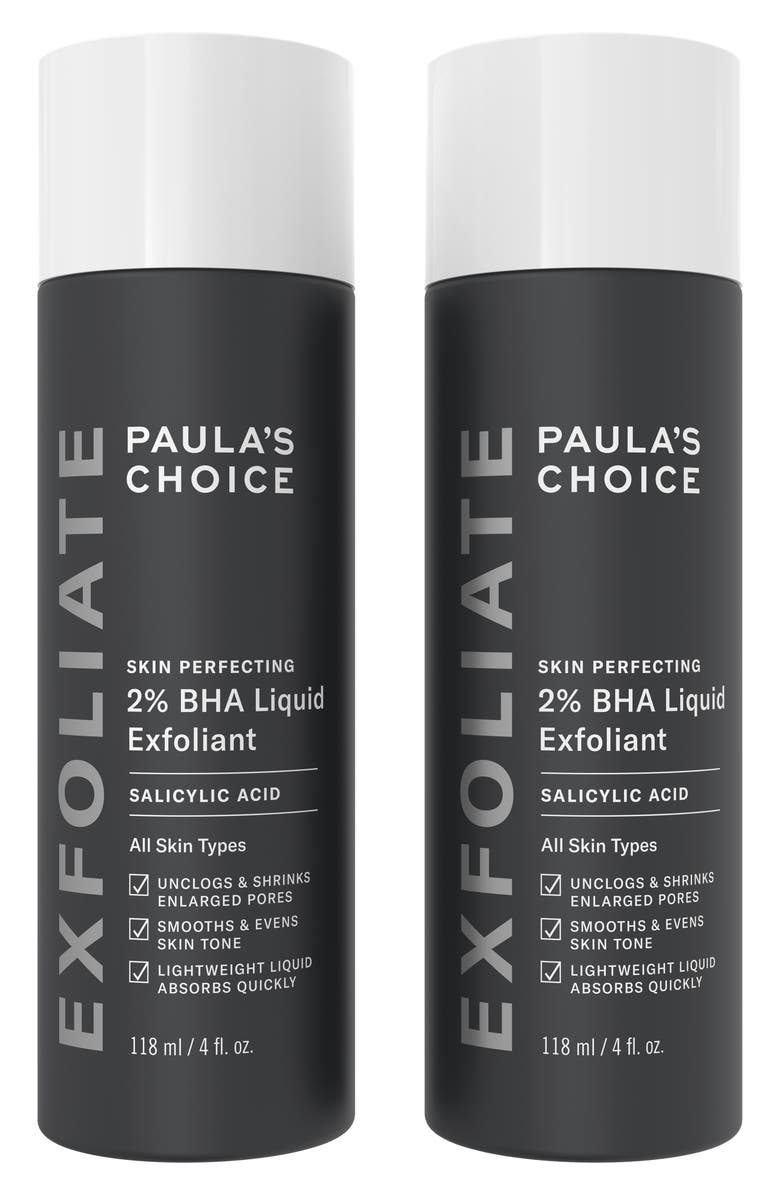 PAULA'S CHOICE Skin Perfecting 2% BHA Liquid Exfoliant Full Size Duo, Main, color, NO COLOR