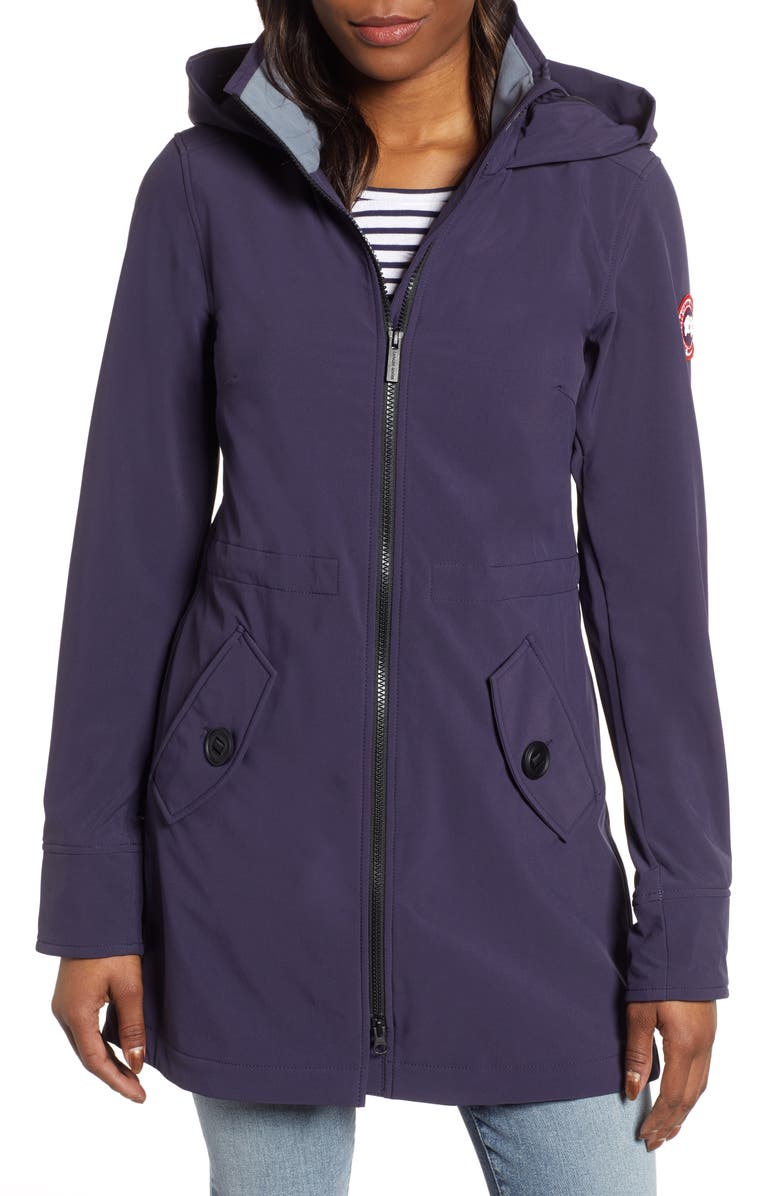 CANADA GOOSE Avery Water Resistant Hooded Softshell Jacket, Main, color, NAVY