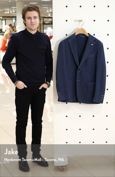 Trim Fit Nailhead Stretch Cotton Blend Sport Coat, sales video thumbnail
